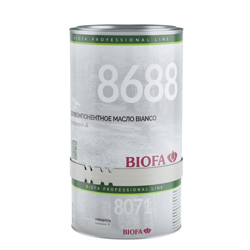 8688/8071 BIANCO промышленное двухкомпонентное масло для светлых пород древесины