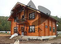 Дом из клееного бруса, массив сосны