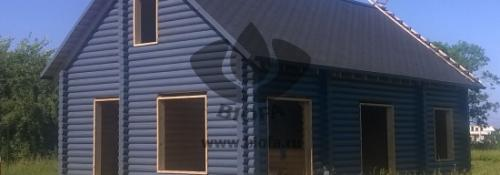 Система окраски фасада деревянного дома